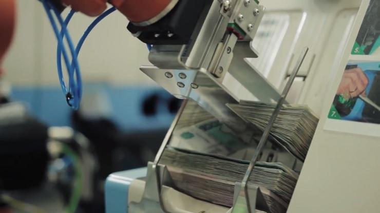 Сберегательный банк внедрил роботов для пересчета денежных средств