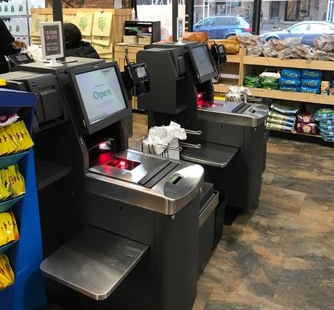 Cashless self checkout systems